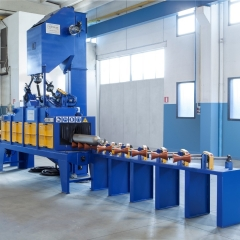 Gas cylinders and pipes treatment shotblasting machines
