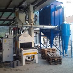 Marble and granite treatment shotblasting machines