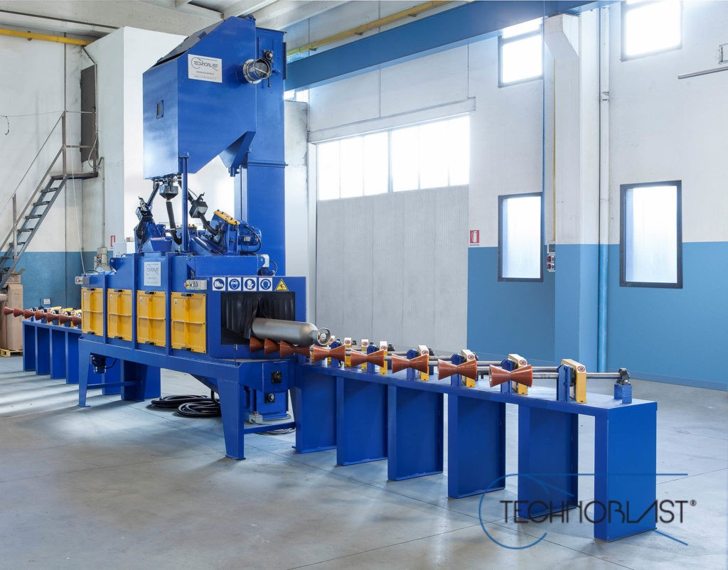 Technoblast • Gas cylinders and pipes treatment shotblasting machines